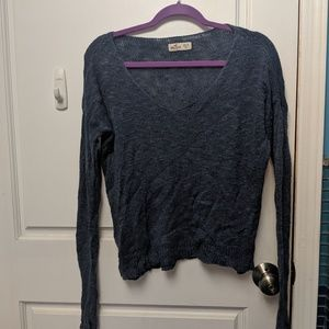 Hollister cropped sweater top